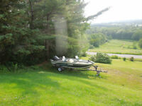 2007 Lowe Boat and Trailer with a 50hp motor