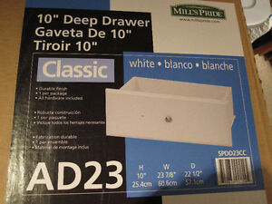 "10"" Deep White Drawer kits"