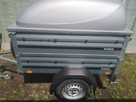9f3124df9ef019 Brenderup 1150 S Trailer with side extentions and lockable ABS lid