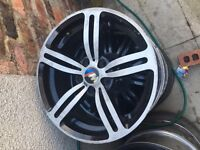 "Bmw m6 chrome/silver 18"" alloy can post"