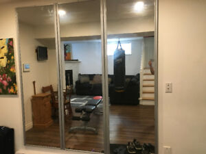 3 Large mirrors for home gym