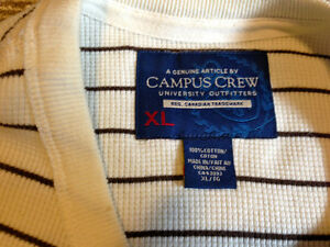 Campus Crew Crew-neck Henley Size XL London Ontario image 3