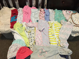 """""""Newborn"""" size clothes lot & swaddlers"""