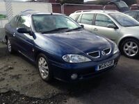 Renault Megane coupe not Clio Astra ford