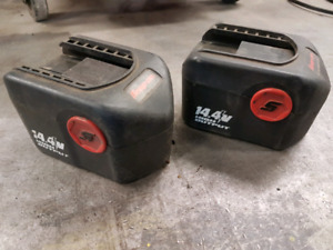 Two Snap-on 14.4V Batteries