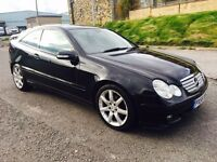 2005 Mercedes Benz c200 Black Auto diesel Heated Leather Long MOT Swap P.x welcome