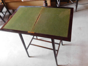 Antique Folding Top Walnut Games Table