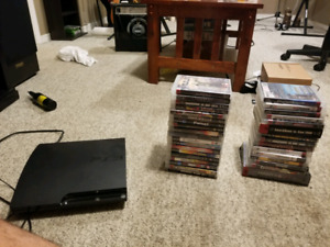 120gb ps3 with 34 games and a controller