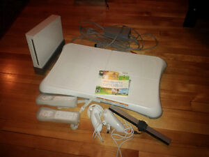 Wii with WiiFit board, 2 controllers - excellent condition