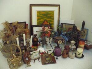 chandellier, lanterne, panier fleurs, cadre, bouteille, vase...