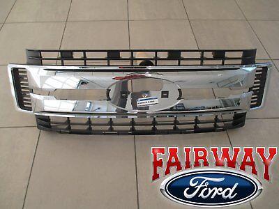 17 thru 18 Super Duty F250 F350 F450 OEM Ford Chrome Grille Grill w/o Emblem NEW