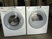 Whirlpool Duet Washer and Dryer-white