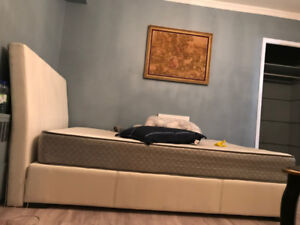 QUEEN SIZED BED FRAME Faux leather (mattress not included)