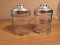 Free salt sugar glass containers