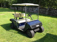E-Z-GO Gas Golf Cart with Clubs