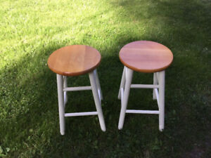 Two 23 inch high Stools