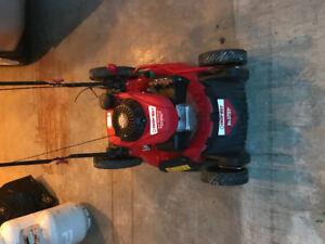Self propelled Troy built lawn mover just like new