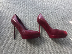 red YSL pumps $400