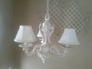 Chandelier and light pendants