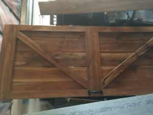 Rolling Barn Door solid wood with track hardware