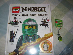 New Lego Ninjago book with limited ed. minifigure & keychain