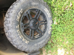 Mud tires and rims Kitchener / Waterloo Kitchener Area image 1
