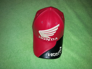 For sale leather Honda hat made in Korea.