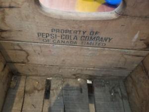 Pepsi-cola wood crate