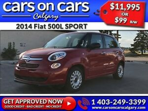2014 Fiat 500L SPORT w/Heated Seats, BlueTooth, Beats Audio $99B