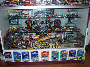 Vintage auto toy and gas collection