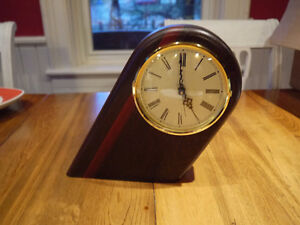 Hand made wood clock Heartwood slanted London Ontario image 1