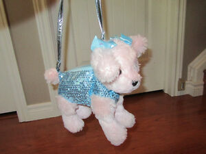 Plush Sequin Dog Purse