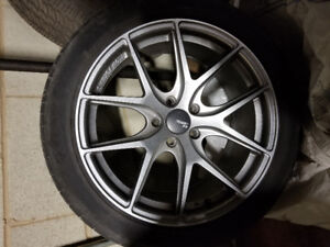 """4x 18"""" rims with street tires off genesis coupe"""