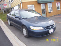 *$1299*1999 Honda Accord.Inspected til sept 2016 May Trade