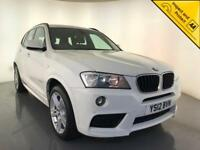 2012 BMW X3 XDRIVE20D 4WD M SPORT DIESEL LEATHER INTERIOR SERVICE HISTORY