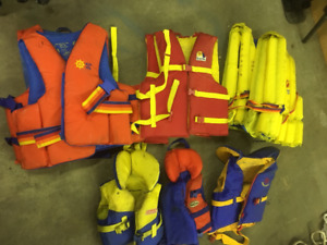 Life Jackets, Ropes, Safety supplies, Boueys