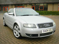 2004 04 Audi S4 Cabriolet 4.2 Quattro 2dr WITH FULL SERVICE HISTORY