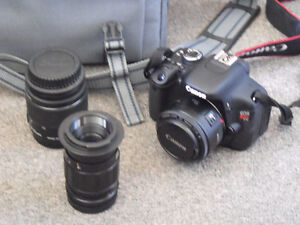 Canon EOS Rebel T31 + Lens + Case