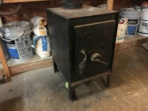 Woodstove for ice shack.