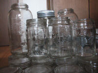 Vintage Crown Jars/matching glass lids and rings