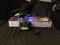 RC helicopters x2 and spy net video bot