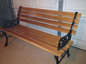 1930's Park Bench - Cast Iron & Solid Wood London Ontario image 1