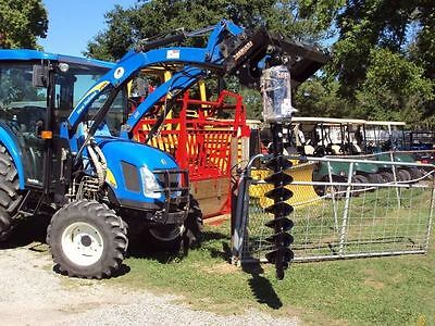 Off set heavy duty Premier hydraulic auger for a tractor