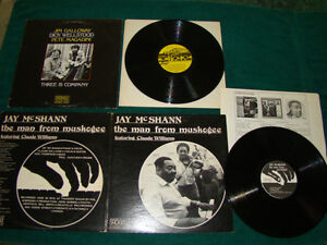 LPs 60s-80s-JAZZ-COLTRANE-SMITH-McSHANN-GALLOWAY-AUTOGRAPHS