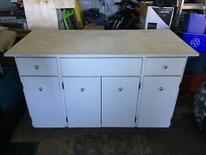 Solid Wood Cabinet/Work Bench
