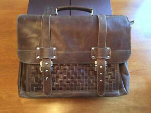 Leather briefcase- New