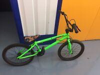 BMX haro green bike hardly used