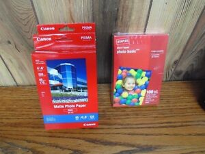 Canon & Staples 4 x 6 Photo Paper - Unopened Boxes