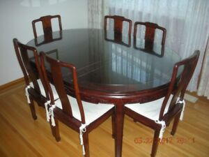 Chinese antique dinning table and chairs