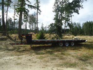 2014 Re-Built Flat Bed Trailer, 30', $6000-REDUCED